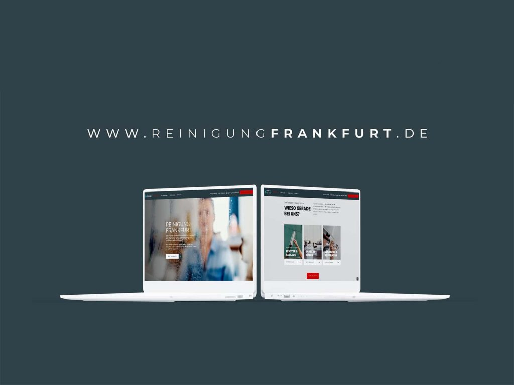 Reinigung Frankfurt eine lokale Website für Kundenanfragen